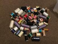 Large sewing thread collection