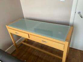 Desk and shelves set