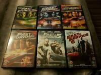 Fast and furious dvds 1 to 6