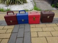 4 x vintage record cases for 7 inch singles