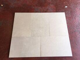 Polished Limestone tiles - 5 off