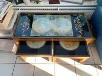 Vintage Military Style Coffee Table Set