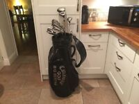 Golf clubs-Driver-3 Wood-Hybrid-Callaway Irons-Lynx Putter-Callaway Bag-Golf Trolley-Glove-Balls etc