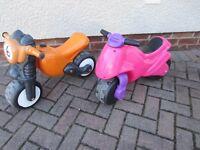 Childs ride on / push along motorbikes