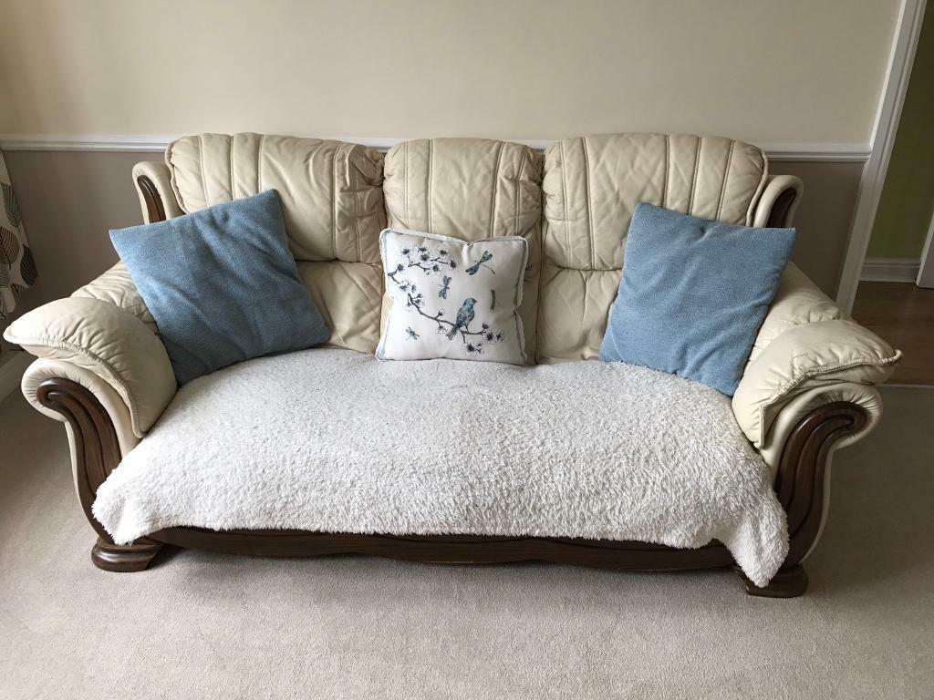 FREE 3 + 2 Seater Leather Sofa