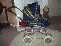 vintage silver cross dolls ultima pram/pushchair