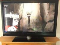 """42"""" Phillips hd plasma with hd freeview Hdmi's Remote"""
