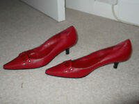 Brand new Red short heeled shoe size 5