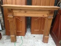 Solid pine mantle piece