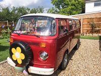 Rare VW T2 Bay Window Twin Slide Camper