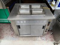 WET BAIN MARIE UNDER HOT CUPBOARD CATERING COMMERCIAL SHOP KITCHEN