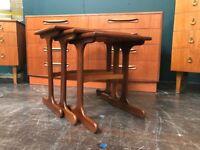 Teak Nest of Tables from 'Fresco' range by G-Plan. Retro Vintage Mid Century