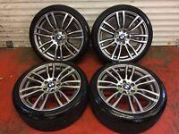 19'' GENUINE BMW 3 SERIES F30 F31 F32 403 STYLE 4 M SPORT E90 ALLOY WHEELS TYRES 5X120