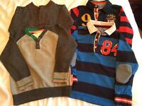 Boys age 4-5 rugby tops and jumpers