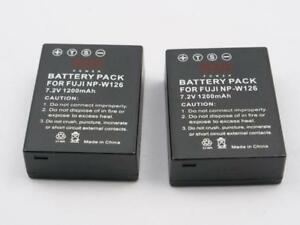FUJIFILM NP-W126 2 generic batteries in perfect condition