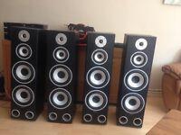 Tibo Hifi speakers amplifier set up