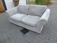 Next two seater sofa beige/cream approx 3 years use