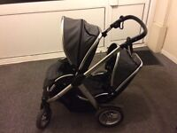 Oyster Max 2 double pushchair grey tandem twin buggy