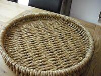 56cm diameter seagrass basket/bowl/tray