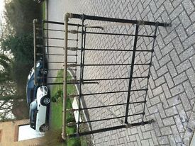 Victorian brass and cast iron double bedstead reduced to £300
