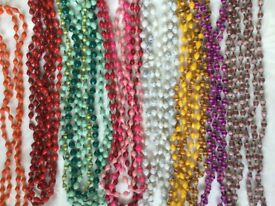 Paperbeaded coloured necklaces