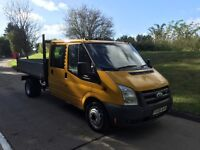 2006 ford transit crew cab mk7 tipper, new mot, low miles, ready for work