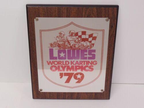 "Vintage 1979 Lowes World Karting Olympics Plaque - WKA Go-Kart 15-1/4"" x 12-1/4"""