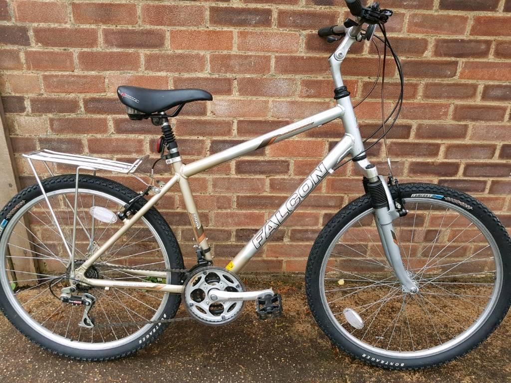Gents falcon claud butler equator lightweight aluminium mountain bike.