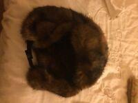 Top shop brown fur winters hat