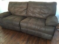 100% Real leather sofa with Power Recliner from Sofology!