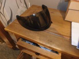 agv k3 dark smoke visor