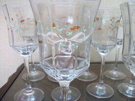 LOVELY ETERNAL BEAU WINE GLASSES 10 OF