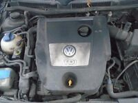 vw golf 1.9 tdi complte engine