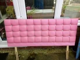 Pink king size headboard
