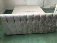 Crushed Velvet and Diamond Double Bed