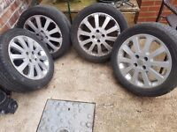 16 inch alloy wheels with 205 /50 r16 tyres in great condition