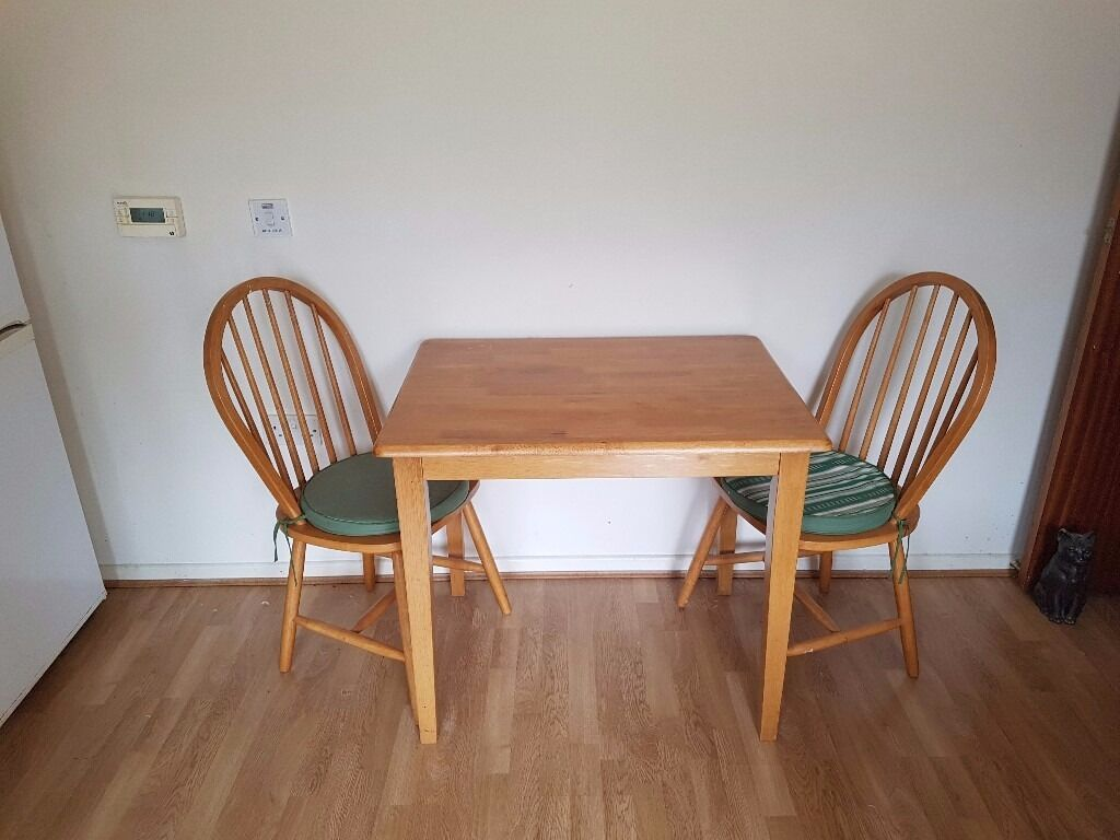 Kitchen table and two chairsin Bangor, County DownGumtree - beech wood table and chairs perfect for a small kitchen. excellent condition barely used