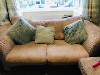 3 seater sofa, chair and foot stool