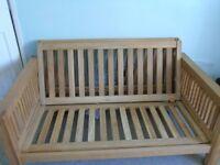 FUTON COMPANY Solid Oak Double Futon For Sale (Frame Only) Quick Sale