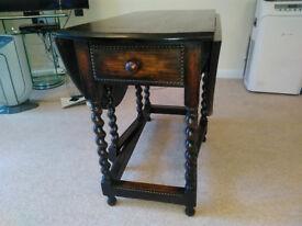 Solid Oak Gate Leg Folding Table