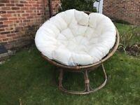 Papasan Chair with cream cushion from The Pier