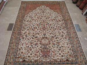 Awesome Tree of Life Birds Floral Oriental Area Rug Hand Knotted Wool Silk Carpet (9 x 6)'