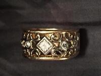 Diamond Right handed Victorian ring