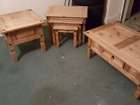 coffee table, nest of tables, lamp table