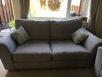 Comfy pale blue/grey three seater sofa in great condition