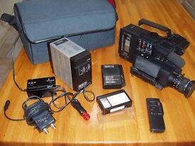 Vintage video camera set