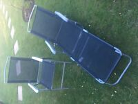 Garden chairs (4) and loungers (2) for sale