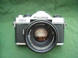 Fujica AZ 1, 35mm film SLR camera with Fujinon f1.8 lens. Fully functional.