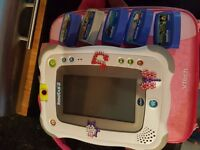 Girls innotab tablet with 5 games