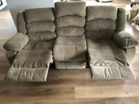 Fabric (3 seat) Recliner sofa up for grans